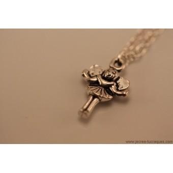 Collier avec chaîne et fée argentés - Je crée tu craques | Mes créations de bijoux fantaisie et autres | Scoop.it