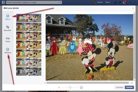 Facebook ahora permite aplicar filtros, stickers y más a las imágenes que suben desde la web | GeeksRoom | Bits on | Scoop.it