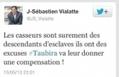 Tweet sur les descendants d'esclaves : un député UMP assigné en justice - France Info | Droit - Généralités | Scoop.it