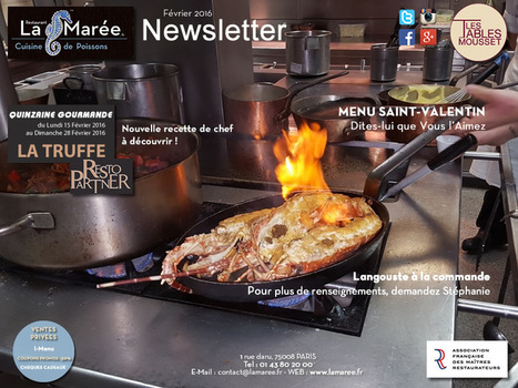 LA MAREE, découvrez l'actualité de février ! | RESTOPARTNER : des restaurants  de qualités à Paris - France | Scoop.it
