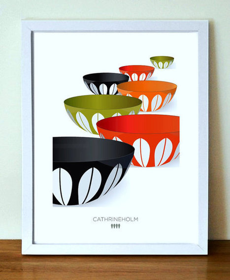 CATHRINEHOLM Mid Century Modern Kitchen Art, A3 | Posters - Mid Century Danish and Scandinavian Art | Scoop.it