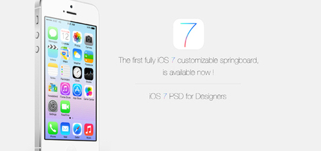 Ultimate Collection of 30+ Free iOS 7 Resources for Designers  |  Pencil Scoop | Web Design & Development | Mobile Design | Scoop.it