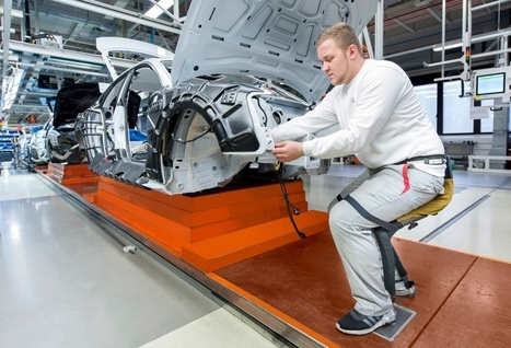 Audi Creates Carbon Fibre Exoskeleton for Its Workers   Heron   Scoop.it