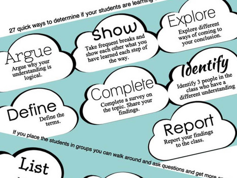 27 Simple Ways To Check For Understanding | Ed World | Scoop.it