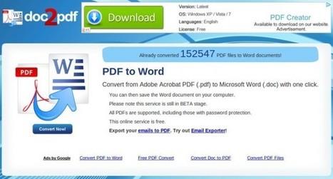Convertir archivos PDF a Word y de Word o Excel a PDF gratis online | Tips&Tricks | Scoop.it