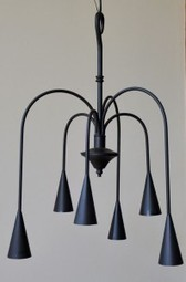 6-arm Willow Light - Colonial Country Wrought Iron Chandelier | Country Home Design Ideas | Scoop.it