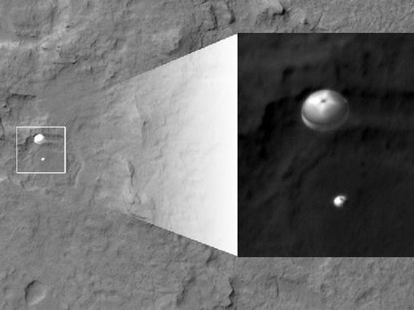 New Image Shows Mars Rover Curiosity Parachuting Toward Perfect Landing | Bite Size Business Insights | Scoop.it