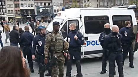 Militaires et policiers face à des manifestants place Kléber, retour en vidéos - Rue89 Strasbourg | Strasbourg Eurométropole Actu | Scoop.it