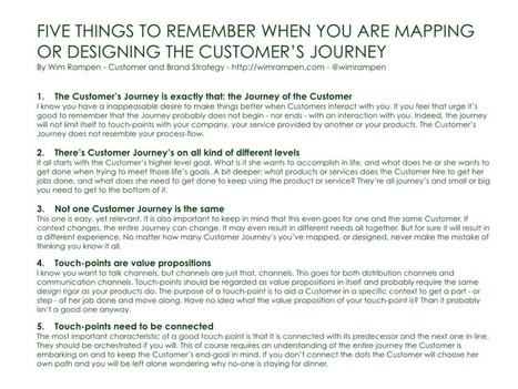 Five Things To Remember When Mapping The Customer's Journey - wimrampen.com   marketing digital   Scoop.it
