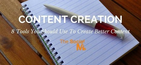 Content Creation: 10 Tools You Should Use To Create Better Content | Cc4Td | Scoop.it