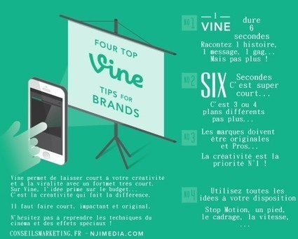 Comment et pourquoi utiliser Vine en entreprise ? - ConseilsMarketing.fr | Facebook, LinkedIn,Twitter, scoop it, Pinterest,buffer, | Scoop.it