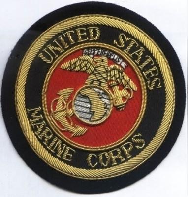 United states Marine Corps Bullion wire Blazer Badge | Blazer Badges | Scoop.it
