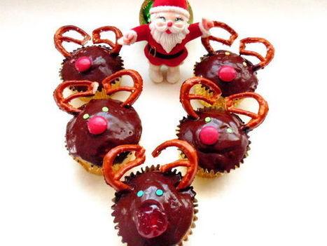 Recette Cupcakes rennes de noël par GateauGaga - Ptitchef | Cupcakes en France | Scoop.it