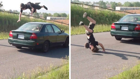 10 Guys Who Fail At Jumping Moving Cars | DailyVideosTV | Scoop.it