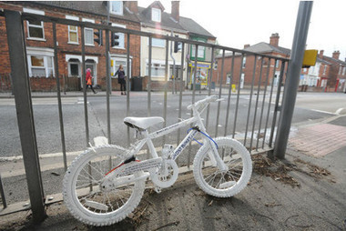 Ghost bike placed on Carholme Road in memory of cyclist death | Honoring Lives | Scoop.it