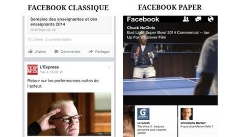 On a testé Paper, la nouvelle appli mobile de Facebook - L'Expansion   frenchsocialmarketing   Scoop.it