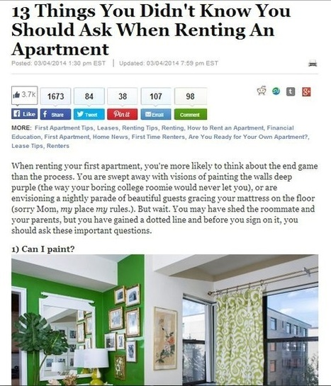 Questions to Keep in Mind when Looking for Apartments in Kansas City | Leasing KC | Scoop.it