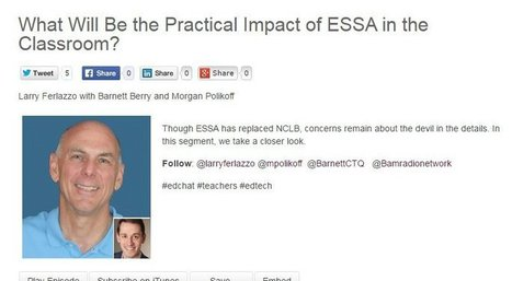 """My New BAM! Radio Show: """"What Will Be the Practical Impact of ESSA in the Classroom?"""" 