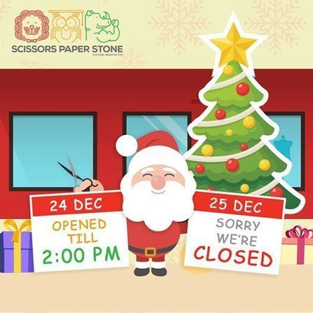 Scissors Paper Stone:- A little change in our operating hours during Christmas 2016   hairsalonforkids   Scoop.it