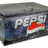 Old World Distressed Iron Pepsi Box