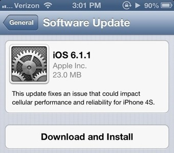 Apple Releases iOS 6.1.1 for iPhone 4S Devices, Fixes 3G Issues ... | iApp Suggestion | Scoop.it