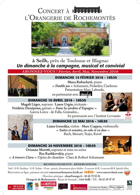 Concerts à l'Orangerie de Rochemontès | FOLLE de MUSIQUE | Scoop.it