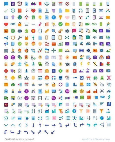 Icons8: pack con 312 bonitos iconos planos de uso gratuito | Sobre TIC y docencia | Scoop.it