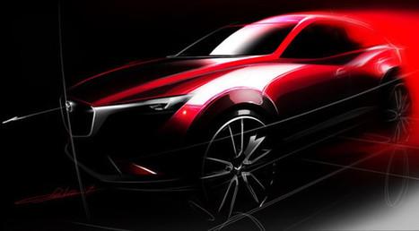 Automoto - Mazda CX-3 : première image teaser pour le futur crossover nippon ! | Mazda | Scoop.it