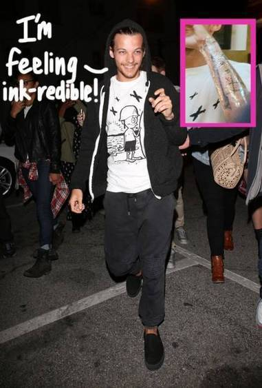Louis Tomlinson Goes In One Direction To Get ANOTHER Tattoo! - PerezHilton.com | TCG Tattooing | Scoop.it