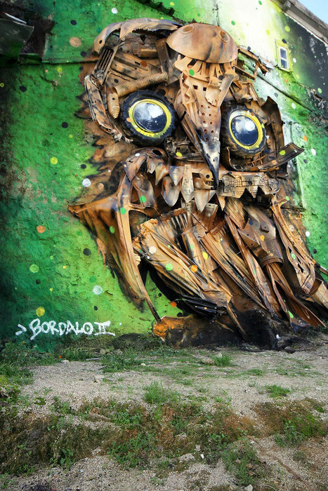 Portuguese Street Artist Creates A Giant Outdoor Owl Sculpture From Junk | tecnologia s sustentabilidade | Scoop.it