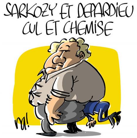 Sarkozy et Depardieu, cul et chemise | CRAKKS | Scoop.it