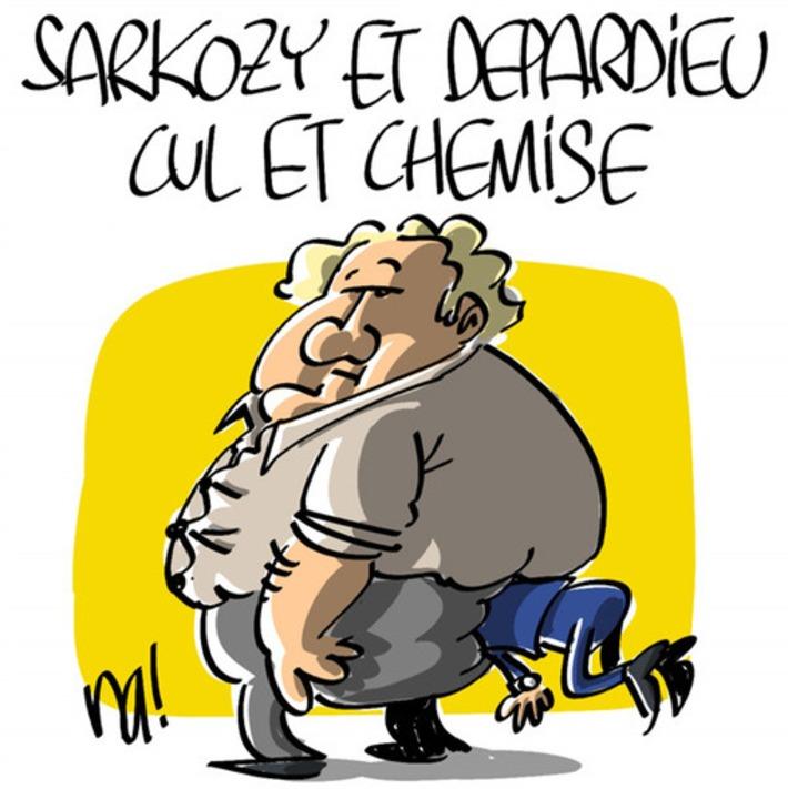 Sarkozy et Depardieu, cul et chemise | Baie d'humour | Scoop.it