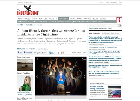 Autism-friendly theatre that welcomes Curious Incidents in the Night-Time   Drama   Scoop.it