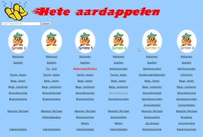 Edu-Curator: Gespot! Hete aardappelen: een website met allerlei online oefeningen en spelletjes | Educatief Internet - Gespot op 't Web | Scoop.it