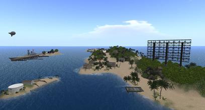 WWII Central - Jeogeot Gulf Battleship Hub, Tulagi - Second Life | Second Life Destinations | Scoop.it