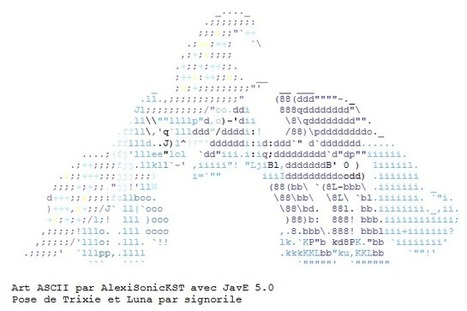 ASCII Trixie and Luna cuddling | ASCII Art | Scoop.it