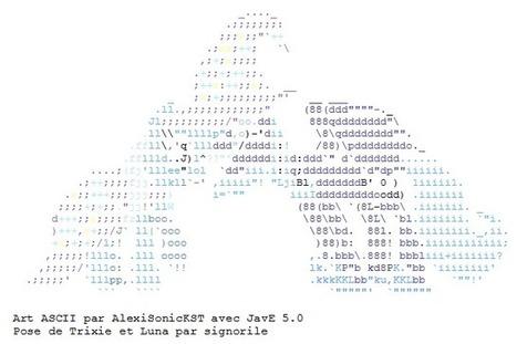 ASCII Trixie and Luna cuddling | ASCII Art | Scoop.it