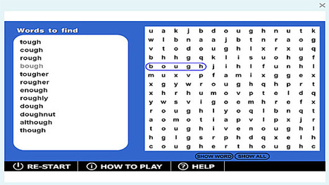 Wordsearch '-ough' game | Sites that help our spelling | Scoop.it