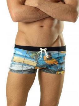 Geronimo 1604b1 Black Swim Trunks, Swimwear - Boxers, Fashion clothing online store | www.concupisco.com - Mens Underwear and Swimwear | Scoop.it