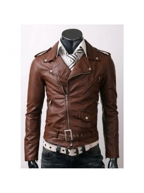 Belted Brown Slim Fit Leather Jacket | Leather Jackets | Scoop.it