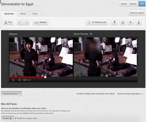 YouTube Gives Users Ability to Blur Faces & Protect Identities | MarketingHits | Scoop.it