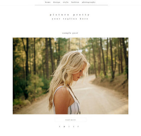 Responsive Blogger Template - Picture Pretty - Photography Blog - Premade Blogger Template - Blogger Theme - Instant Download by CWebsBiz | Blogger themes | Scoop.it