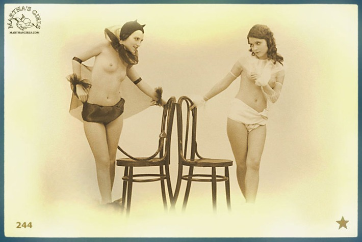 A Naughty Nude Vintage Depiction of the Angel VS Devil | Sex History | Scoop.it