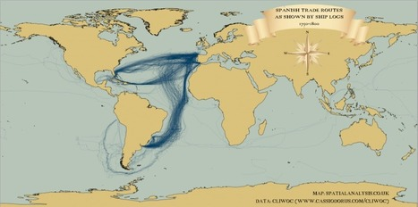 Mapped: British, Spanish and Dutch Shipping 1750-1800 | PIE Mapping, data, routing and logistics | Scoop.it