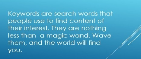 How do you find the right keywords for your blog? - Easy Media | Easy Media | Scoop.it