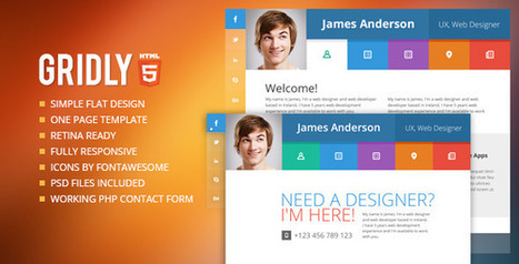 Gridly Responsive vCard HTML (Personal) | Best HTML Themes | Scoop.it