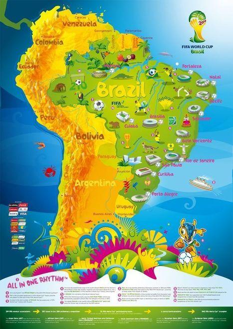 15 mapas del Mundial de fútbol de Brasil   Geografía Infinita   Geografía   Scoop.it