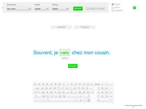 Exercices de conjugaison: Conjuguer un verbe dans une phrase   Moisson sur la toile: sélection à partager!   Scoop.it