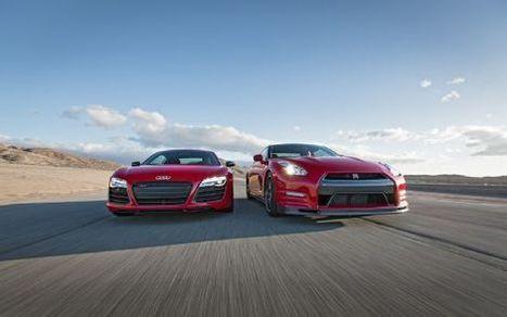 2014 Audi R8 V10 Plus vs. 2014 Nissan GT-R Track Pack - Motor Trend | My English Tom Meijer | Scoop.it
