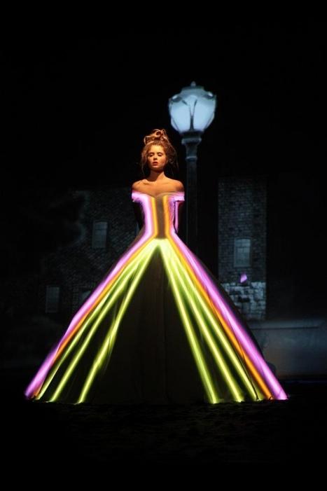 Une robe illuminée, quand la mode rencontre la haute-technologie | Mode, textile et 3D | Scoop.it